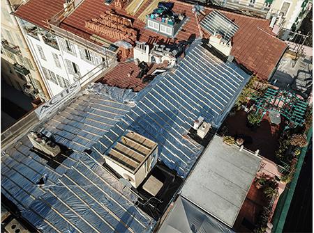 Rénovation d'une toiture avec Triso-super 12