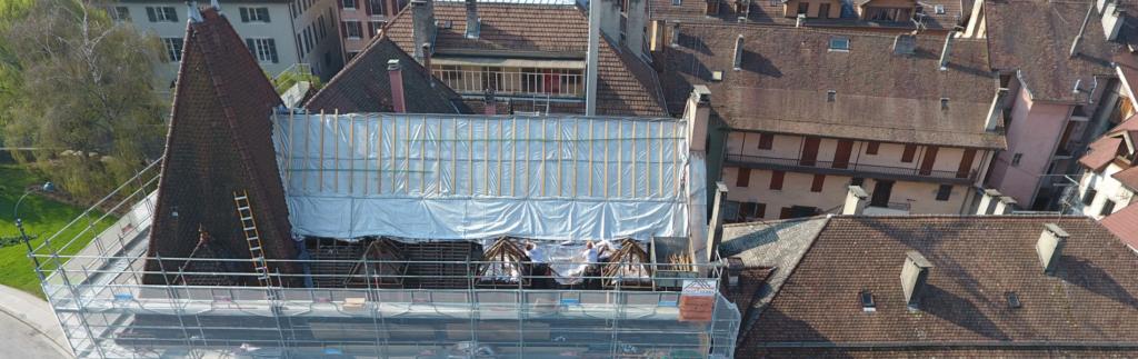 Rénovation de la toiture d'un bâtiment avec Triso-Toiture