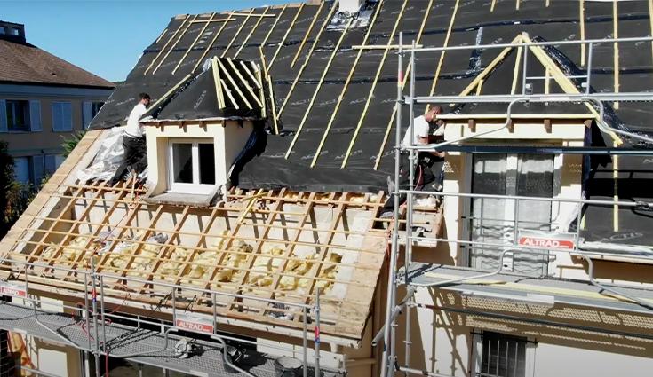 Rénovation d'une toiture de pavillon avec Triso-Toiture (91)