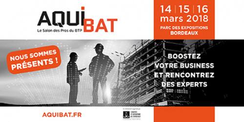 Retrouvez ACTIS au salon AQUIBAT à Bordeaux du 14 au 16 mars