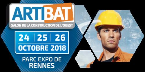 Nous serons présents à ARTIBAT à Rennes du 24 au 26 octobre 2018