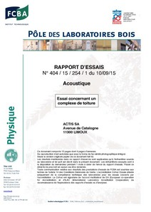 HYBRIS-PV acoustique FCBA