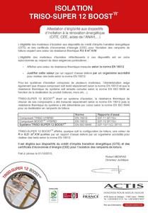 TRISO-TOITURE-Rapport d_essai KTU