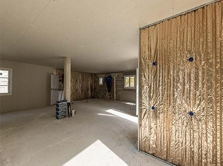 Isolation d'une maison neuve avec les isolants Hybris et Quali'Cloison (84)