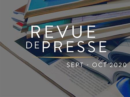 La revue de presse <br> Septembre-Octobre    2020