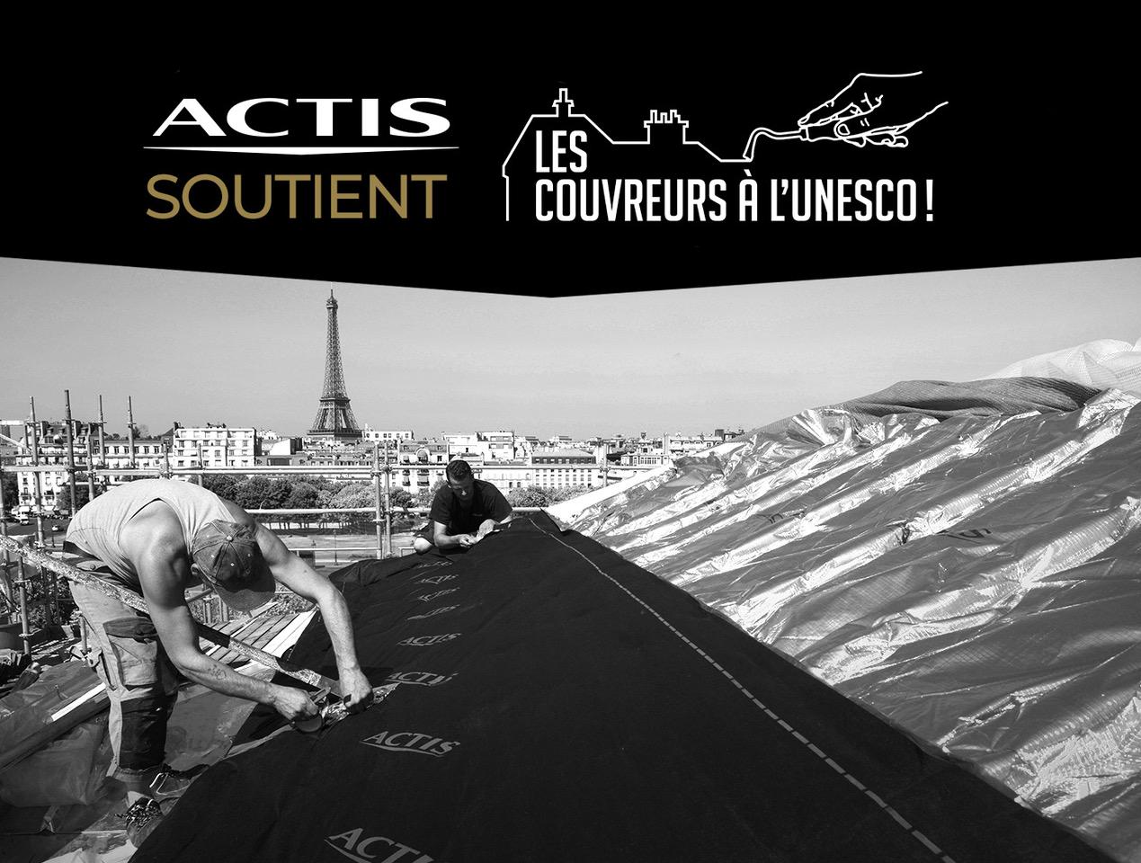 ACTIS soutient la candidature des couvreurs-zingueurs de Paris au Patrimoine Mondial culturel immatériel de l'Unesco