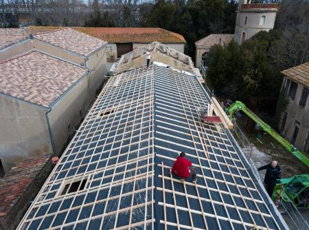Isolation d'une toiture avec l'isolant alvéolaire Boost'R Hybrid (11)
